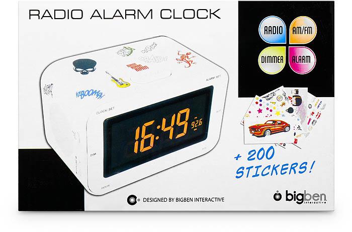 Radio Reveil AM/FM (Blanc + Stickers) - Visuel #1