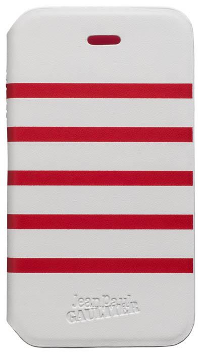 Etui folio Marinière Jean Paul Gaultier (blanc & rouge) - Packshot