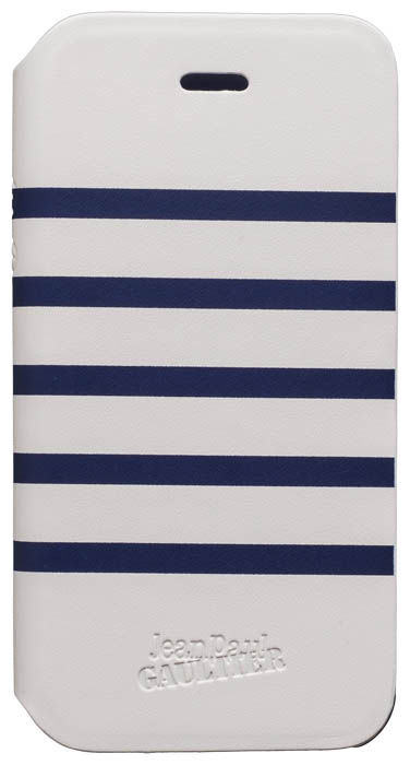 Etui folio Marinière Jean Paul Gaultier (blanc & bleu) - Packshot