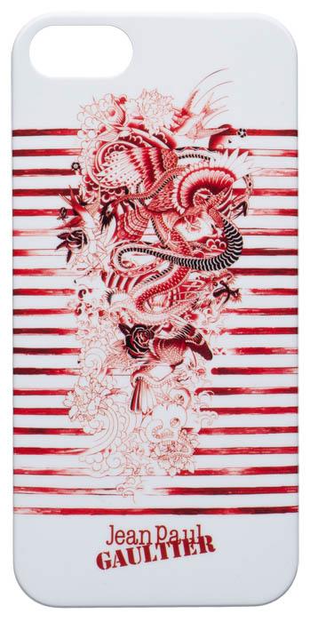 """Jean-Paul Gaultier Coque arrière """"Tatoo"""" (Blanc et rouge) - Packshot"""