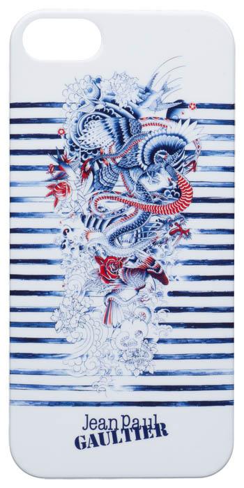 """Jean-Paul Gaultier Coque arrière """"Tatoo"""" (Blanc et bleu) - Packshot"""
