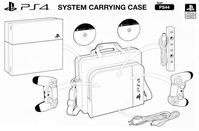 Sac de transport officiel pour PS4™ - Visuel