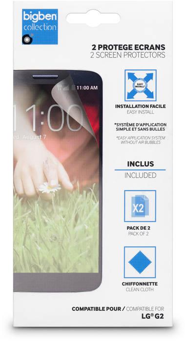 Lot de 2 protège-écrans transparents pour LG G2 - Packshot