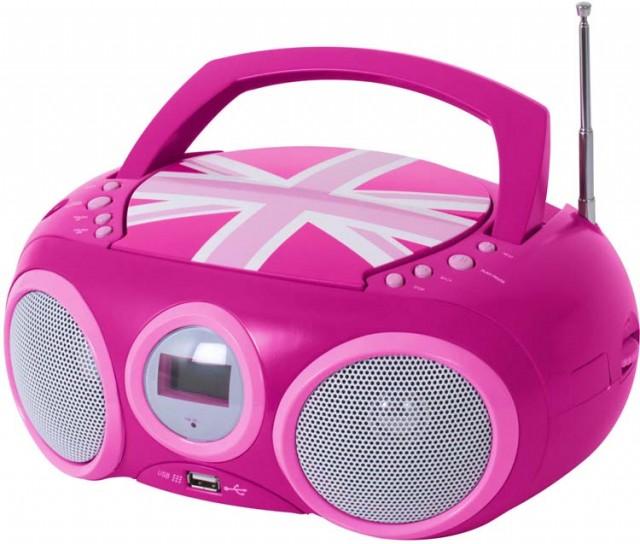 """Lecteur Radio CD portable CD32 """"GB Girl"""" - Packshot"""