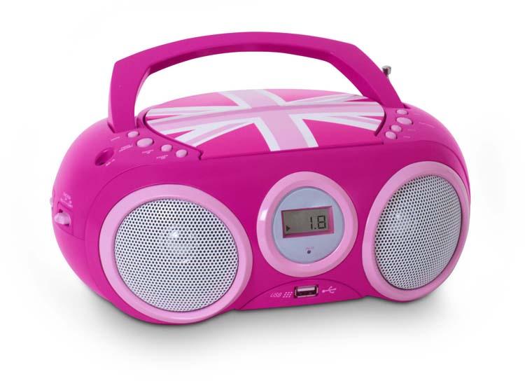 "Lecteur Radio CD portable CD32 ""GB Girl"" - Visuel #2"