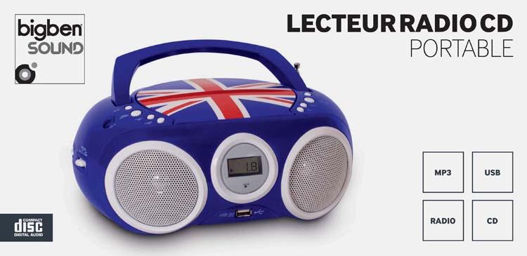 Lecteur CD portable motif Union Jack - Visuel #1
