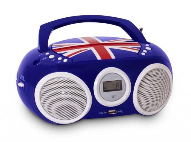Lecteur CD portable motif Union Jack - Packshot