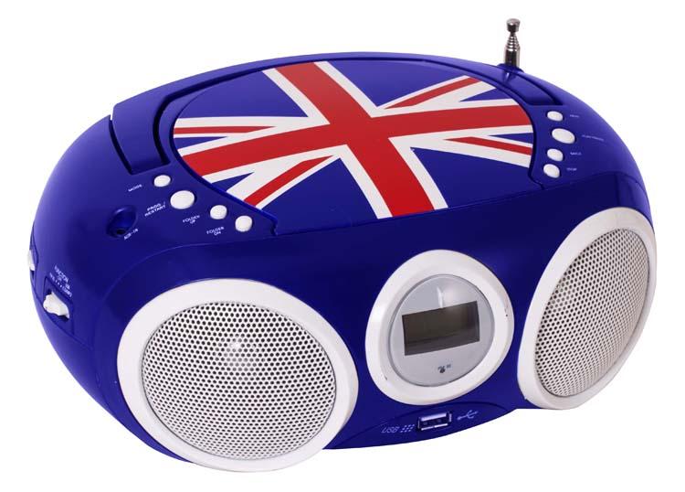 Lecteur CD portable motif Union Jack - Visuel #3