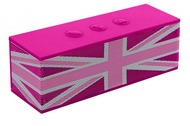 "Enceinte Bluetooth® ""Union Jack"" (Rose) - Packshot"