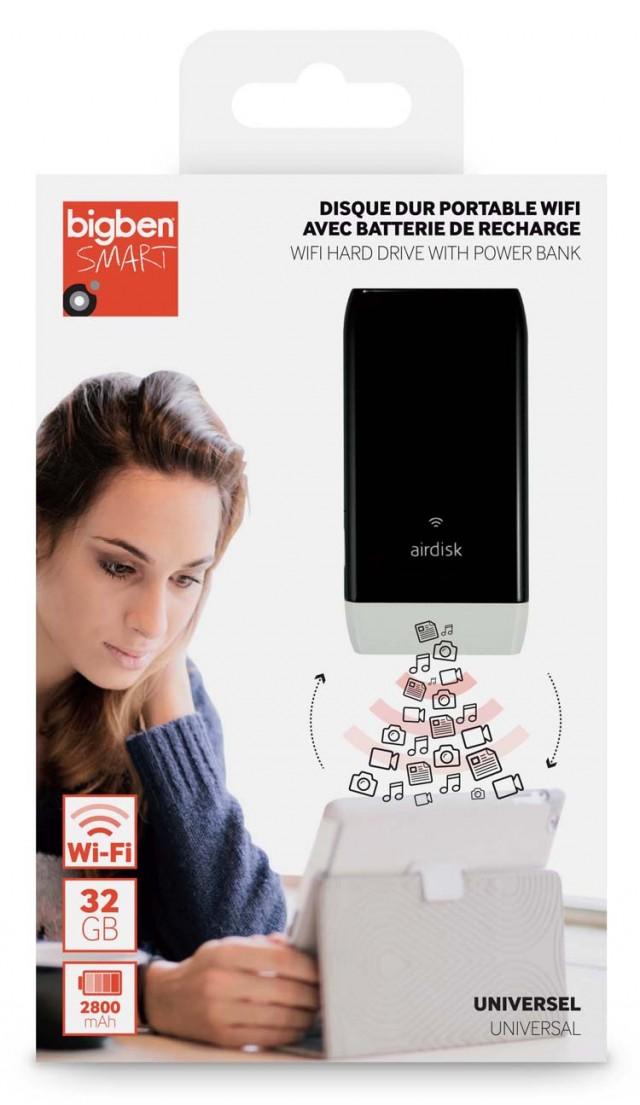 Disque dur portable Wi-Fi avec batterie de recharge - Packshot