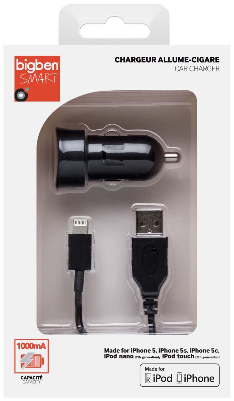 Mini chargeur allume cigare (noir) – Visuel
