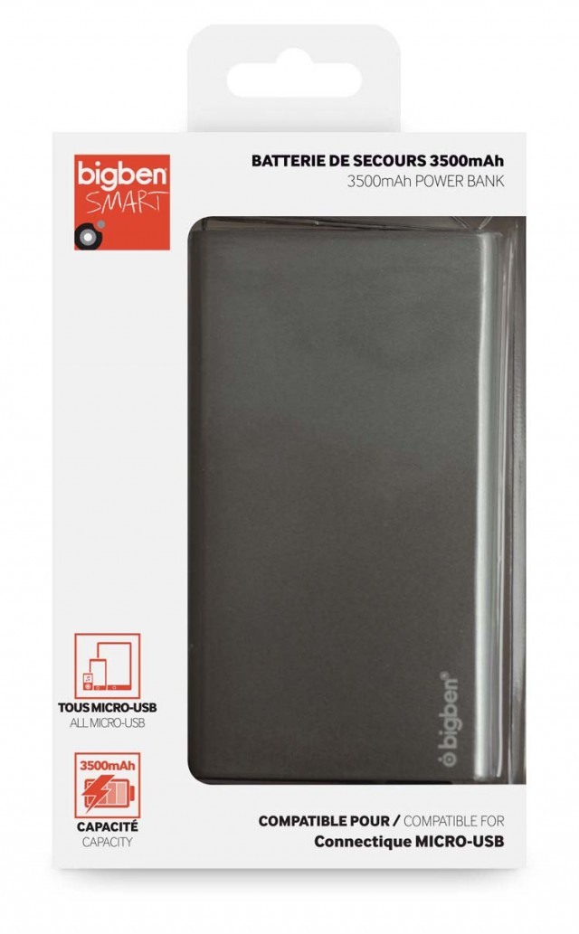 Batterie de secours 3500 mAh (gris) - Packshot