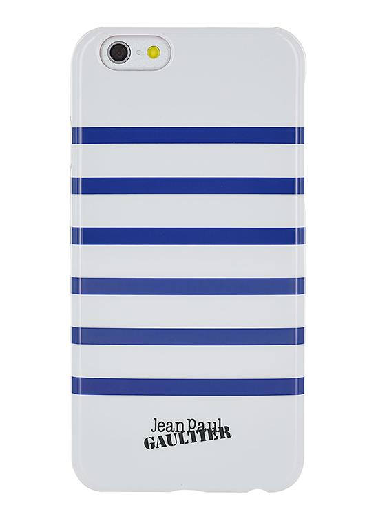 """Jean-Paul Gaultier Coque """"Marinière"""" (blanc et bleu) - Packshot"""