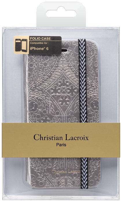 Etui folio Christian Lacroix «Paseo» (Argent) – Visuel