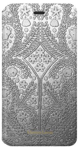"Etui folio Christian Lacroix ""Paseo"" (Argent) - Packshot"