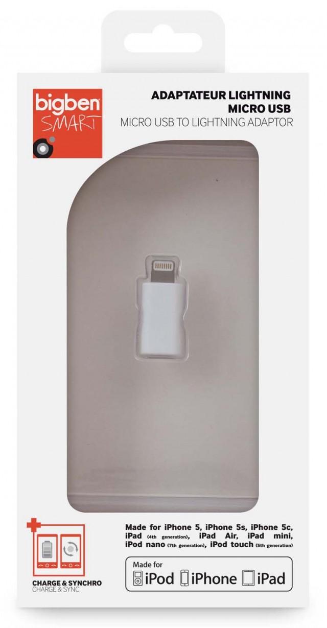 Adaptateur micro USB pour appareils Apple – Packshot