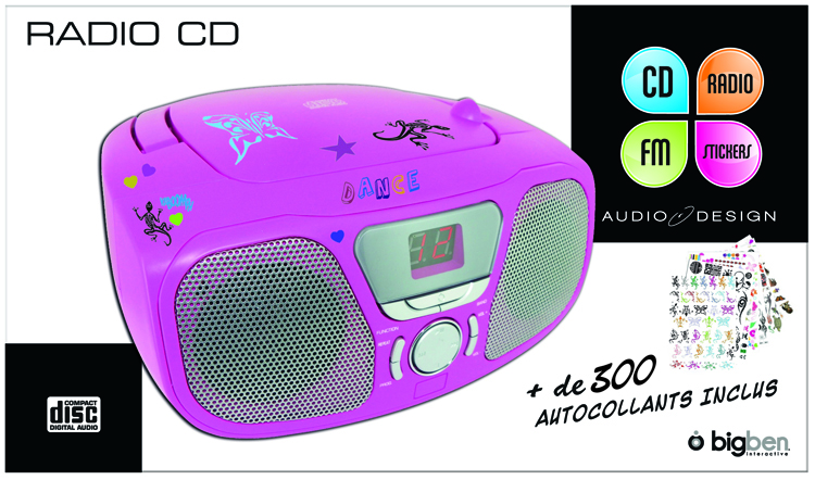 Boombox CD46 «Kidzy» (Frozen Raspberry) – Visuel