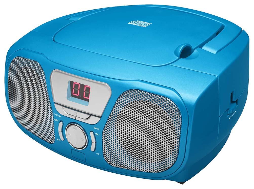 Lecteur CD Portable «Stick» (Bleu) – Visuel