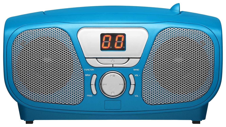 Lecteur CD Portable «Stick» (Bleu) – Packshot