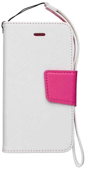 Etui à rabat blanc et rose – Packshot