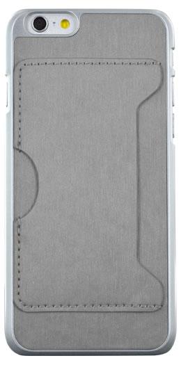 Coque rigide avec porte-cartes (Grise) – Packshot