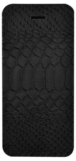 Etui folio effet croco (Noir) – Packshot