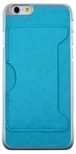 Coque rigide avec porte-cartes (Bleue) – Packshot