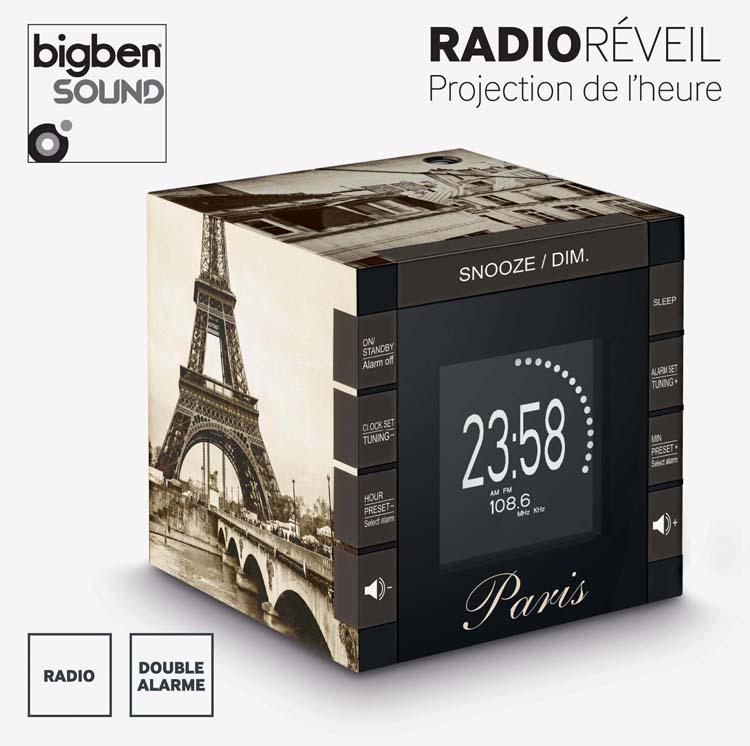 Radio réveil RR70 «Paris» – Visuel