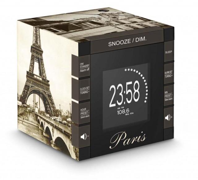 Radio réveil avec projecteur RR70PTAXI BIGBEN. Réveillez-vous avec douceur  ! Radio réveil RR70 « Paris » – Packshot cf2c4c9a199a