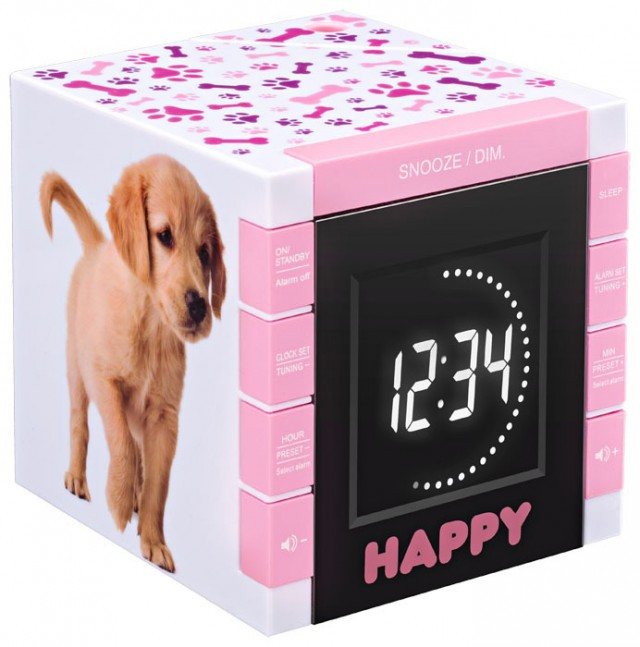 "Radio réveil ""Happy Cube"" - Packshot"