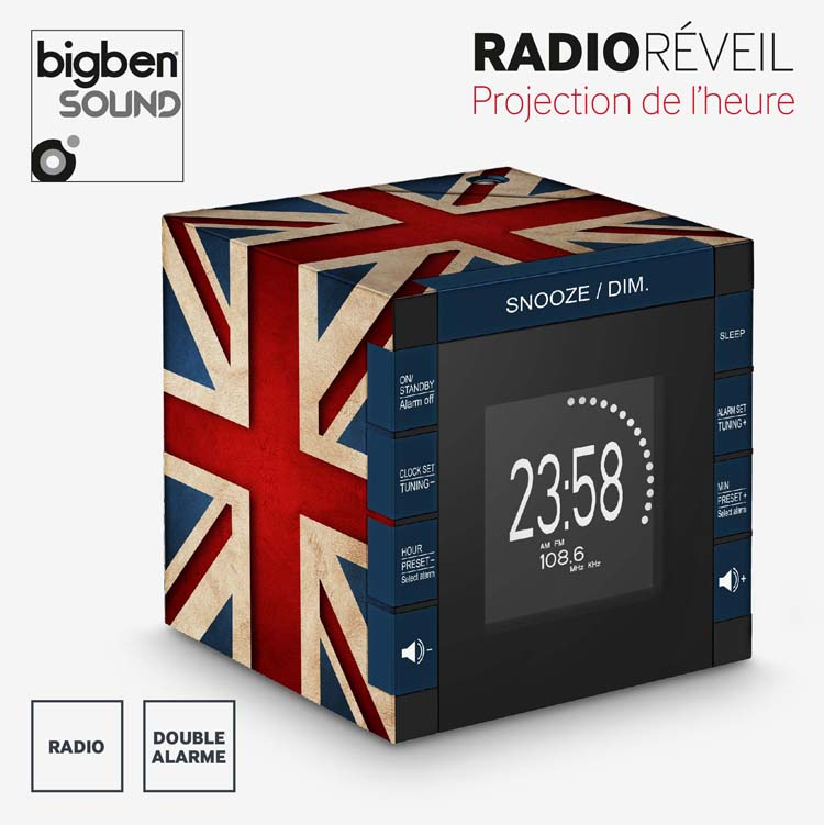Radio réveil RR70 «Great Britain» – Visuel