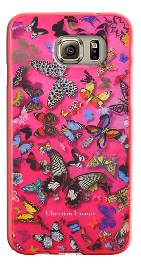 "Coque Christian Lacroix ""Butterfly Parade"" (Grenadine) - Packshot"