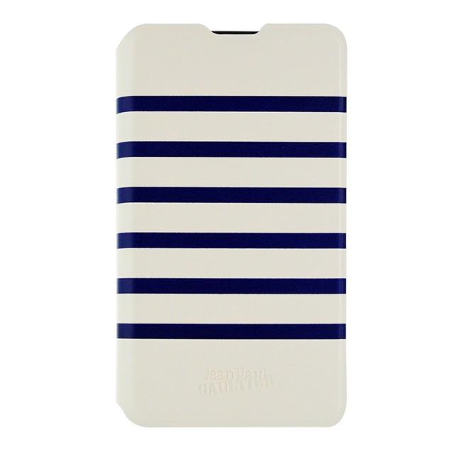 Etui folio Jean-Paul Gaultier (Marinière blanche et bleue) - Packshot