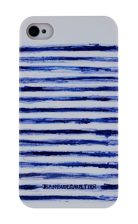 """Coque """"Esquisse"""" Jean Paul Gaultier (Marinière Bleue et Blanche) - Packshot"""