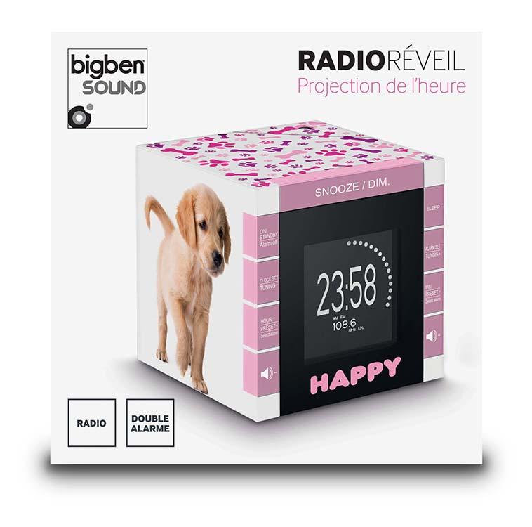 "Radio réveil ""Happy Cube"" - Visuel #2"