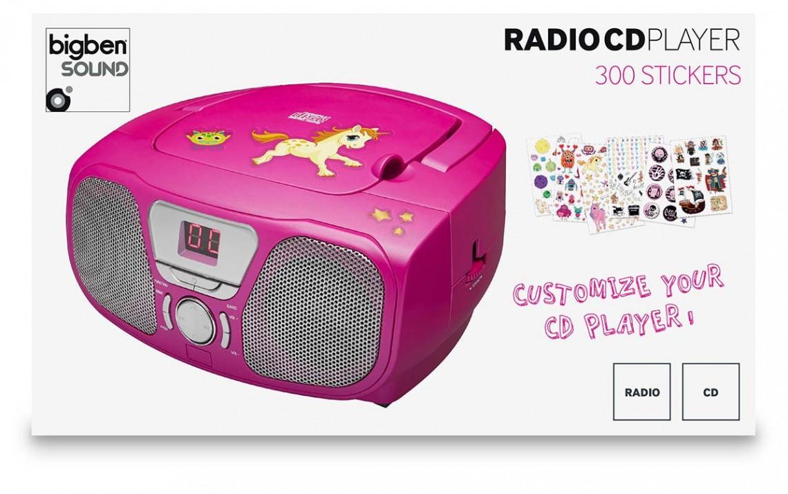 """Lecteur CD Portable """"Stick"""" (Rose) - Visuel #2"""