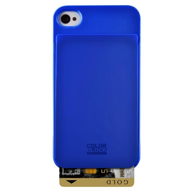Coque de protection Colorblock avec porte carte intégré (Royal Blue) - Packshot