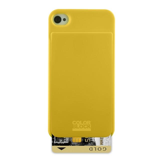 Coque de protection Colorblock avec porte carte intégré (Yellow Solar) - Packshot