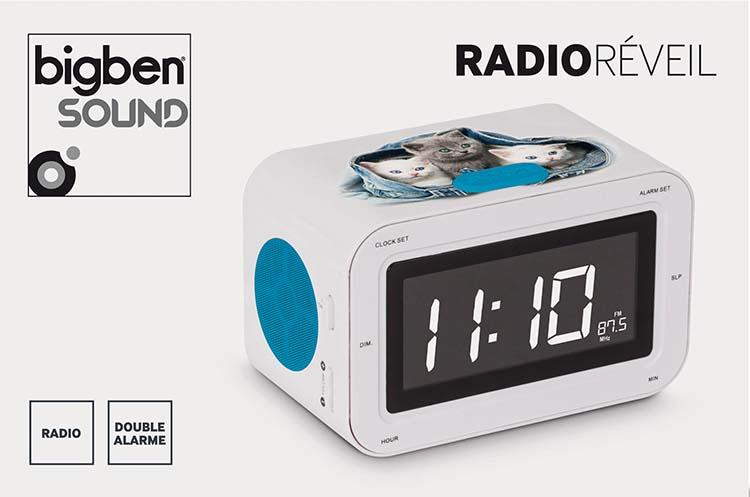 Radio Réveil «3 chatons» - Bundle