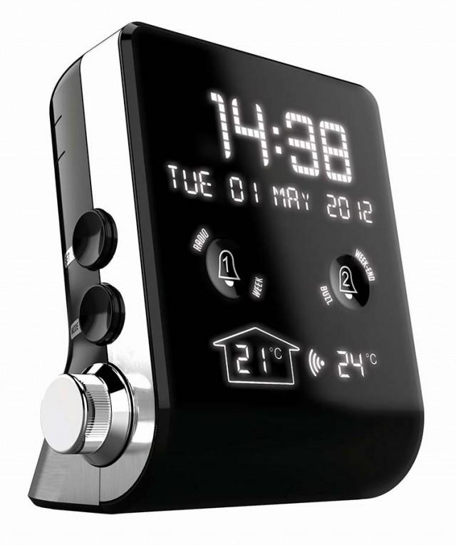 Mini Radio Réveil Double Alarme (Noir) - Packshot