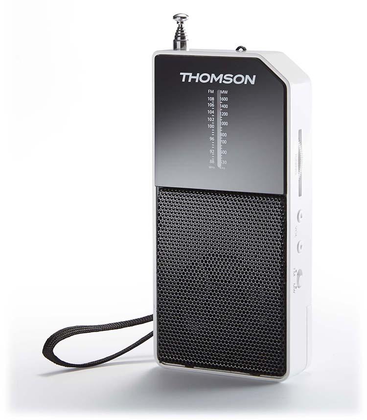 radio de poche blanc rt205 thomson bigben fr sound accessoires gaming mobile tablette. Black Bedroom Furniture Sets. Home Design Ideas