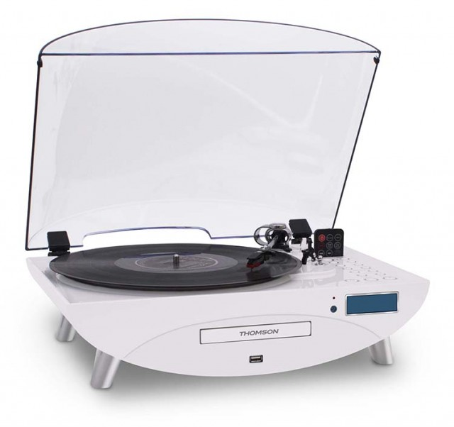Tourne-Disques Encodeur (Blanc) - Packshot