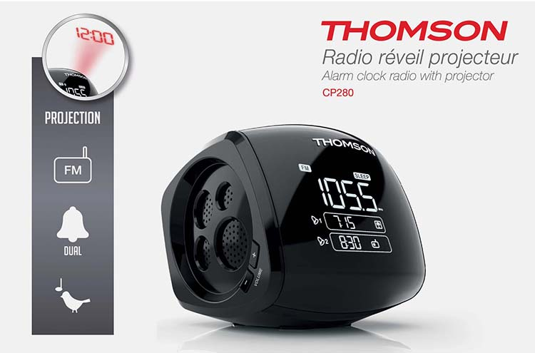 radio r veil projecteur cp280 thomson bigben fr sound accessoires gaming mobile. Black Bedroom Furniture Sets. Home Design Ideas