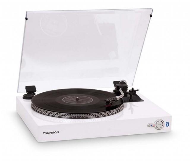Tourne-Disques 2 Vitesses Bluetooth® Thomson (Blanc) - Packshot