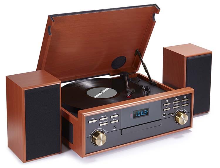 tourne disques wood enceintes td113sps bigben. Black Bedroom Furniture Sets. Home Design Ideas