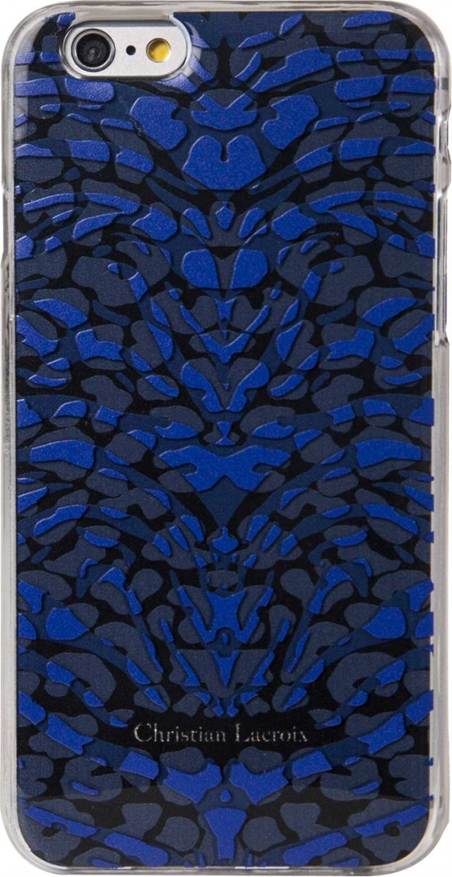 Coque Christian Lacroix «Pantigre» (Bleue) - Packshot
