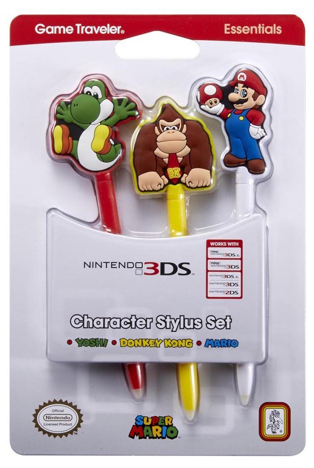 Pack licencié Nintendo de 3 stylets avec personnages Nintendo - Packshot