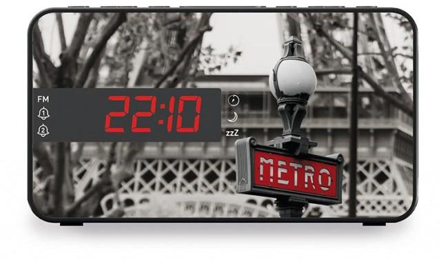 Radio réveil double alarme Métro - Packshot
