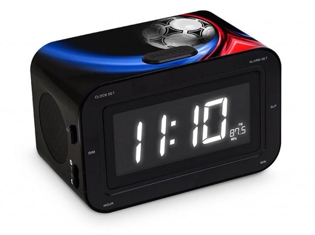 Radio réveil double alarme Foot - Packshot