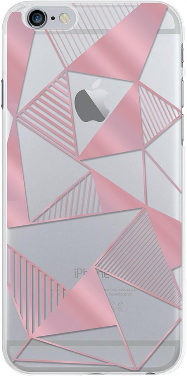 Coque semi-rigide (triangles roses) - Packshot
